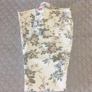 Wet Seal floral jeans